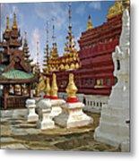 The Ancient Shwezigon Pagoda - Partial View Metal Print