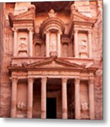 The Ancient Treasury Petra Metal Print