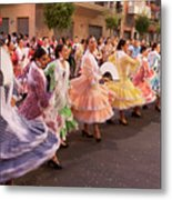 The Andalusian Fair, A Party In The Streets Metal Print