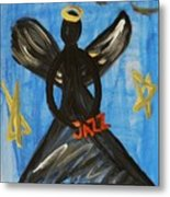 The Angel Of Jazz Metal Print by Mary Carol Williams
