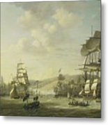 The Anglo Dutch Fleet In The Bay Of Algier Metal Print
