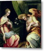 The Annunciation Metal Print by Giorgio Vasari