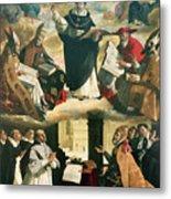 The Apotheosis Of Saint Thomas Aquinas Metal Print by Francisco de Zurbaran