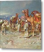 The Arab Caravan   Metal Print