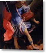 The Archangel Michael Defeating Satan 1635 Metal Print