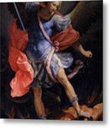 The Archangel Michael Defeating Satan Metal Print