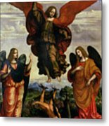 The Archangels Triumphing Over Lucifer Metal Print