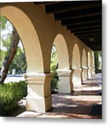 The Arches Mission Santa Ines Metal Print