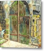 The Archways Of Bandouille 12th Century Monastery Sevres France Metal Print
