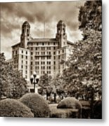 The Arlington Hotel - Hot Springs Arkansas - Sepia Metal Print