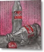 The Art Of Coca Cola Metal Print