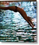 The Art Of Diving 5 Metal Print
