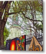 The Art Of Jackson Square Metal Print