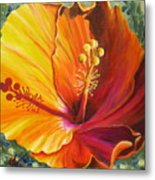 The Artisan Hibiscus Metal Print