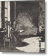 The Artist In His Mother's Room, Danzig Metal Print