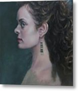 The Artist's Muse Metal Print