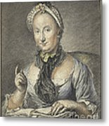 The Artist's Wife With A Book Metal Print