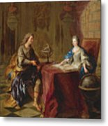 The Astronomy Lesson Of The Duchesse Du Maine Metal Print