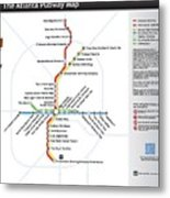The Atlanta Pubway Map Metal Print