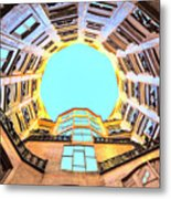 The Atrium At Casa Mila Metal Print