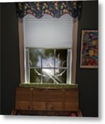 The Attic Window Metal Print