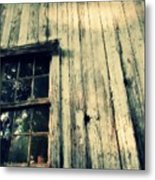 The Back Of An Old House On My Farm Metal Print