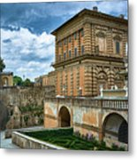 The Back Of The Pitti Palace In Florence Metal Print