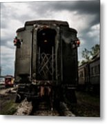 The Back Of The Train Metal Print