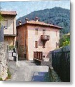 The Back Street Towards Home Metal Print