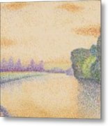The Banks Of The Marne At Dawn 1888 Metal Print