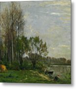 The Banks Of The Oise Metal Print