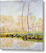 The Banks Of The River Epte At Giverny Metal Print