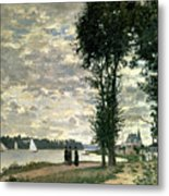 The Banks Of The Seine At Argenteuil Metal Print