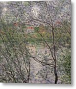 The Banks Of The Seine Metal Print by Claude Monet