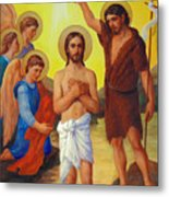 The Baptism Of Jesus Christ Metal Print