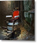 The Barber Chair Metal Print