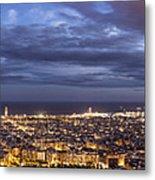 The Barcelona City Skyline, Spain Metal Print