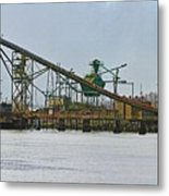 The Barge Waits At Aberdeen Metal Print