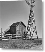 The Barn And Windmill Metal Print