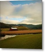 The Barn On Green Acres Metal Print