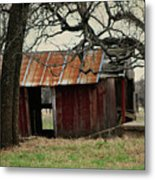 The Barn Out Back Metal Print
