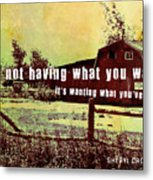 The Barn Quote Metal Print