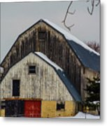 The Barn With A Red Door Metal Print