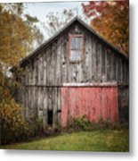 The Barn With The Red Door Metal Print