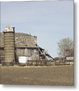 The Barn's Last Season Metal Print