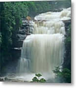 The Base Of Angel Falls In Canaima National Park Venezuela Metal Print