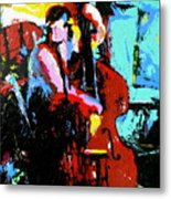 The Bassist Metal Print