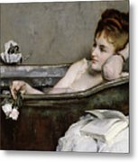 The Bath Metal Print