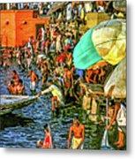 The Bathing Ghats Metal Print
