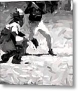 The Batter Metal Print